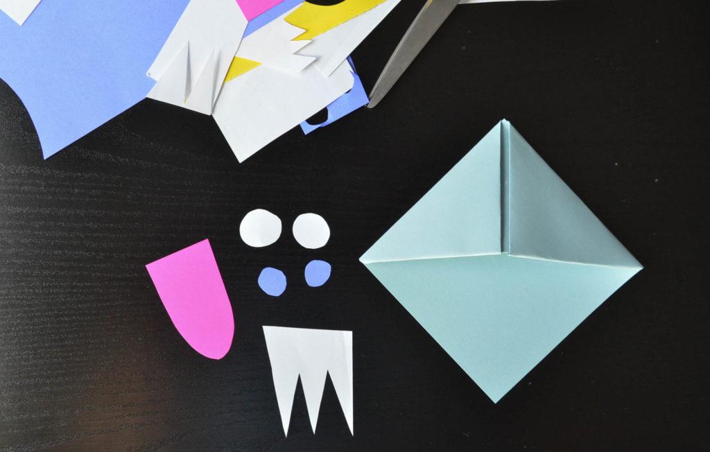Origami Mouth/teeth mask by Tehemptyfeeling on DeviantArt | 652x1024